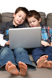 Boys with computer Royalty Free Stock Photo