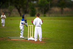 Boys cricket Royalty Free Stock Images