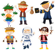 Boys in different costumes Royalty Free Stock Image