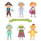 Boys in different costumes for party or holiday Stock Image