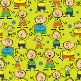 Boys are different seamless pattern Royalty Free Stock Photos