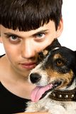 Boys and dogs Stock Photography