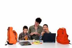 Boys doing homework Royalty Free Stock Images
