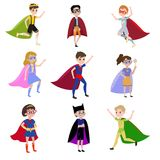Boys is super heroes vector illustration
