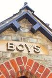 Boys' entrance Stock Image