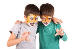 Boys with face-paint Royalty Free Stock Image