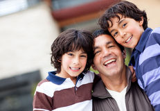 Boys in the family Royalty Free Stock Image