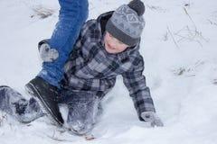 Boys boys fight kicking Stock Photos