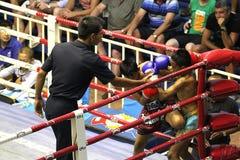 Boys fighting muay-thai Stock Image
