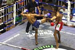 Boys fighting muay-thai Stock Photography