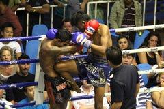 Boys fighting muay-thai Stock Photo