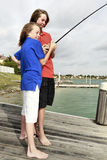 Boys Fishing 1 Royalty Free Stock Photo