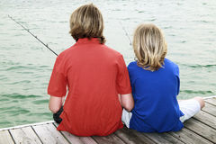 Boys Fishing 3 Stock Image