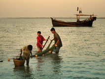 Boys fishing Royalty Free Stock Photography
