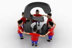 Boys Form Circled Group  In alpha Symbol Stock Photo
