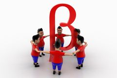 Boys Form Circled Group  In Beta Symbol Stock Photos