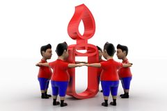 Boys Form Circled Group  In Candle Symbol Royalty Free Stock Photography
