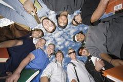 Boys Forming Huddle Royalty Free Stock Photo