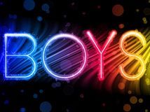 Boys Gay Pride Background Royalty Free Stock Images