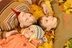 Boys and a girl Royalty Free Stock Photography