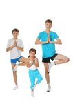 Boys and girl exercising Royalty Free Stock Photography