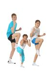 Boys and girl training karate Royalty Free Stock Photo