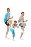 Boys and girl training karate Royalty Free Stock Photo