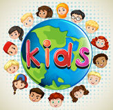 Boys and girls around the world Royalty Free Stock Photo