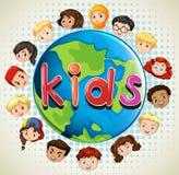 Boys and girls around the world Royalty Free Stock Photo