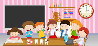 Boys and girls in the classroom Royalty Free Stock Photography