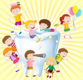 Boys and girls with clean tooth Royalty Free Stock Photography