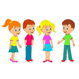 Boys and girls communicate Royalty Free Stock Images