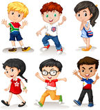 Boys and girls from different countries. Illustration Royalty Free Stock Photography