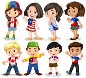 Boys and girls from different countries Royalty Free Stock Image
