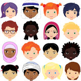 Boys and girls of different nationalities Royalty Free Stock Photography