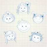Boys and girls  faces Royalty Free Stock Photos