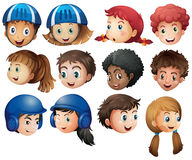 Boys and girls with happy face Royalty Free Stock Images