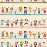Boys and girls seamless pattern Stock Images