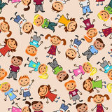 Boys and girls seamless pattern. Young boys and girls in seamless pattern Royalty Free Stock Photo