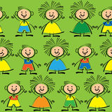 Boys and girls seamless pattern. Boys and girls of seamless pattern Stock Images