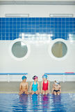 Boys and Girls at Swimming Practice Stock Image