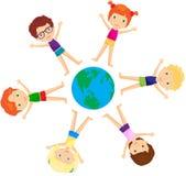Boys and girls togethe. R. Vector cartoon illustration Stock Photography