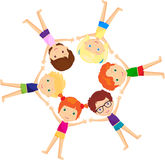 Boys and girls together. Vector cartoon illustration Royalty Free Stock Images