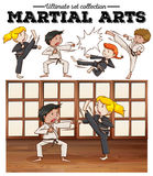 Boys and girls training martial arts Stock Image