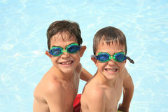 Boys in Goggles Stock Photos