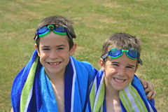 Boys in Goggles Royalty Free Stock Photography
