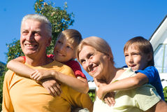 Boys with grandparents Royalty Free Stock Photography