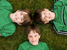 Boys in Green Royalty Free Stock Photo