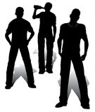 Boys group. Aggressive teenagers group vector work Royalty Free Stock Photography