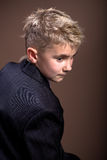 Boys hairstyle. A example of boys hairstyle royalty free stock images